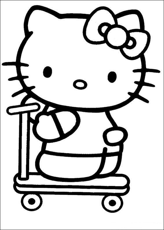 Hello kitty Coloriages à Imprimer Colorier - Coloriages1001.fr