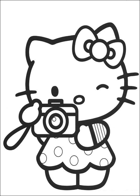Hello kitty coloriages imprimer colorier - Colorier kitty ...
