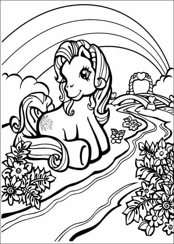 Mon petit poney coloriages imprimer colorier - Pony da colorare in immagini ...