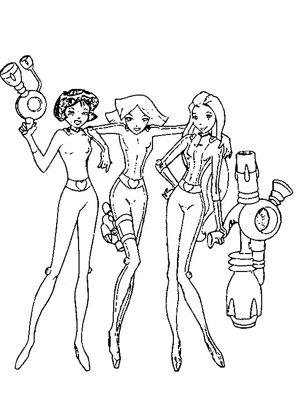 Totally spies coloriages imprimer colorier for Totally spies coloring pages